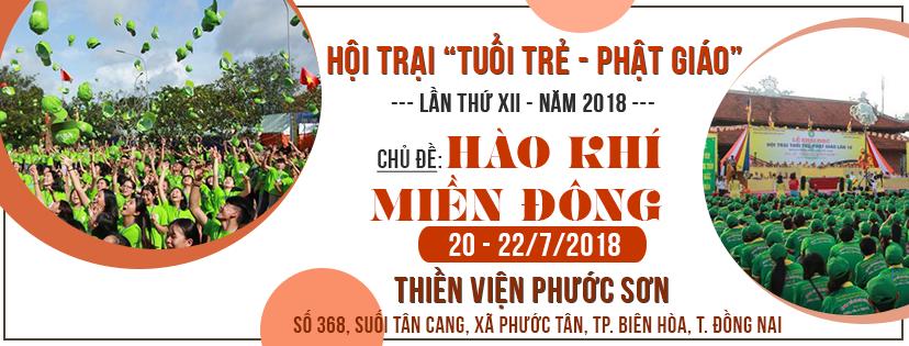 """Hội trại """"Tuổi trẻ – Phật giáo"""" lần thứ XII năm 2018"""