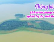 THÔNG BÁO – Lịch trình phóng sanh tại hồ Trị An, tỉnh Đồng Nai