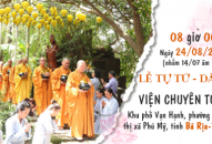 THÔNG BÁO – V/v Lễ Tự tứ – Dâng y tại Viện Chuyên Tu 1, năm 2018