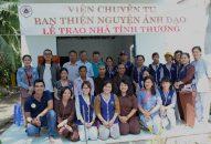 Ban TN Ánh Đạo Viện Chuyên Tu trao 2 căn nhà tình thương tại Vĩnh Long và Bạc Liêu
