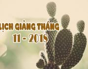 Lịch thuyết giảng tháng 11 – 2018