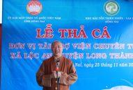 Viện Chuyên Tu tổ chức phóng sanh cá lần 2 tại Hồ Trị An