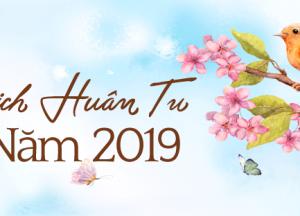 Lịch HUÂN TU năm 2019