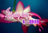 Lịch thuyết giảng tháng 4 – 2019