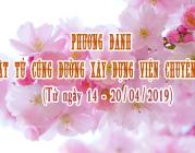 PHƯƠNG DANH PHẬT TỬ CÚNG DƯỜNG XÂY DỰNG VIỆN CHUYÊN TU (14-20/04/2019)