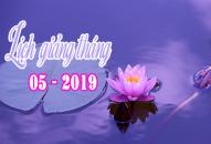 Lịch thuyết giảng tháng 5 – 2019 (Có Cập Nhật)