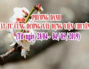 PHƯƠNG DANH PHẬT TỬ CÚNG DƯỜNG XÂY DỰNG VIỆN CHUYÊN TU (05-11/05/2019)