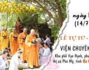 THÔNG BÁO – V/v Lễ Tự tứ – Dâng y tại Viện Chuyên Tu 1, năm 2019