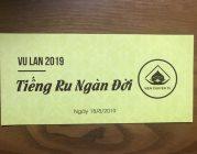 THƯ MỜI – Tham dựĐạiLễ Vu Lan – Báo Hiếu năm 2019