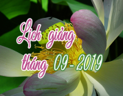 Lịch thuyết giảng tháng 9 – 2019