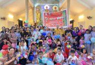 """Tiền Giang: Ấm áp """"Tết Đoàn Viên"""" cho 500 thiếu nhi tại chùa Thiền Vân (huyện Cái Bè) năm 2019"""