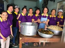 Phân BTN Ánh Đạo tặng cơm chay tại bệnh viện Lê Lợi