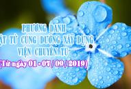 PHƯƠNG DANH PHẬT TỬ CÚNG DƯỜNG XÂY DỰNG VIỆN CHUYÊN TU (01-07/09/2019)