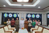 Đoàn hoằng pháp Viện Chuyên Tu thăm Hoà thượng trụ trì chùa Tam Quang
