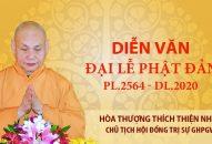 Diễn văn Phật Đản PL.2564 – DL.2020 của Hòa thượng Chủ tịch HĐTS GHPGVN