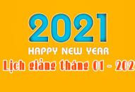 LỊCH GIẢNG & CÁC HOẠT ĐỘNG THÁNG 01/2021 CỦA THƯỢNG TOẠ THÍCH THIỆN THUẬN