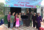 Phân Ban Thiện Nguyện Ánh Đạo Bình Dương tặng nhà tình thương tại Bình Phước