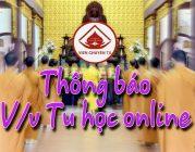 Thông báo mới V/v Tu học online hàng tuần